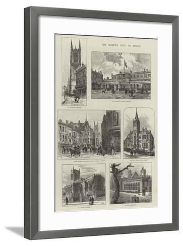 The Queen's Visit to Derby-Frank Watkins-Framed Art Print