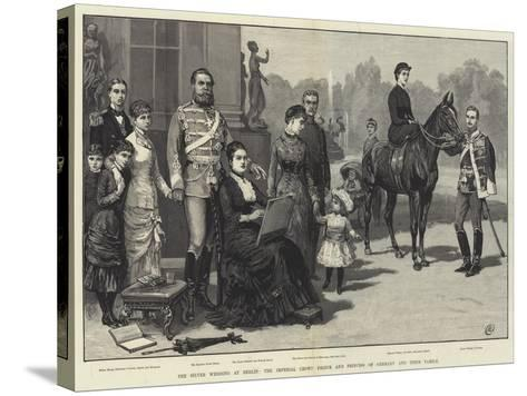 The Silver Wedding at Berlin, the Imperial Crown Prince and Princess of Germany and their Family-Frank Dadd-Stretched Canvas Print