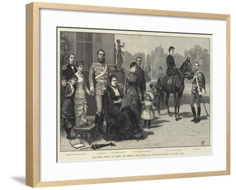 The Silver Wedding at Berlin, the Imperial Crown Prince and Princess of Germany and their Family-Frank Dadd-Framed Art Print