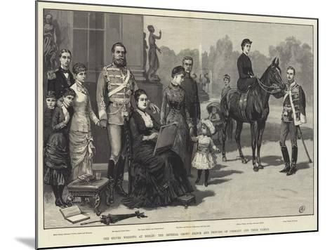 The Silver Wedding at Berlin, the Imperial Crown Prince and Princess of Germany and their Family-Frank Dadd-Mounted Giclee Print