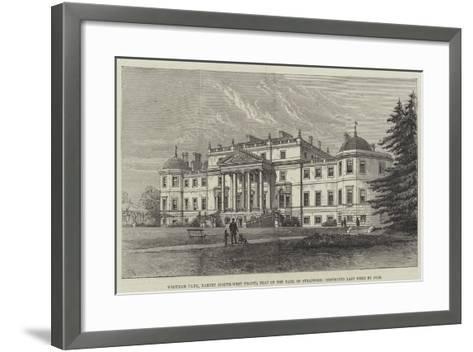 Wrotham Park, Barnet (South-West Front), Seat of the Earl of Strafford, Destroyed Last Week by Fire-Frank Watkins-Framed Art Print