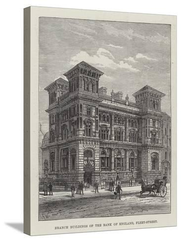 Branch Buildings of the Bank of England, Fleet-Street-Frank Watkins-Stretched Canvas Print