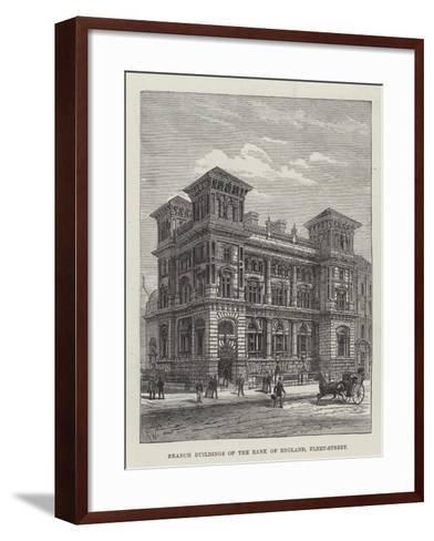 Branch Buildings of the Bank of England, Fleet-Street-Frank Watkins-Framed Art Print
