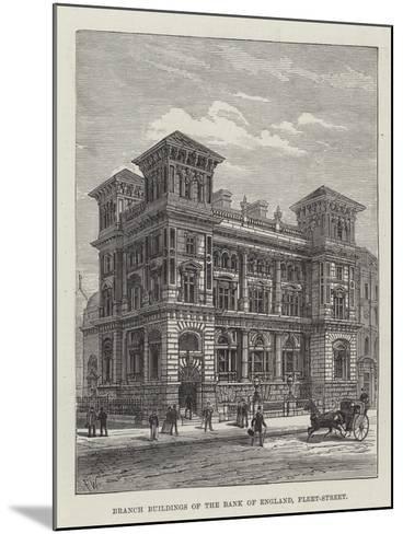 Branch Buildings of the Bank of England, Fleet-Street-Frank Watkins-Mounted Giclee Print