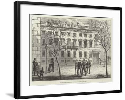 Count Arnim's Residence on the Pariser-Platz, Berlin-Frank Watkins-Framed Art Print