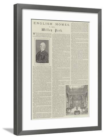 Willey Park-Frank Watkins-Framed Art Print