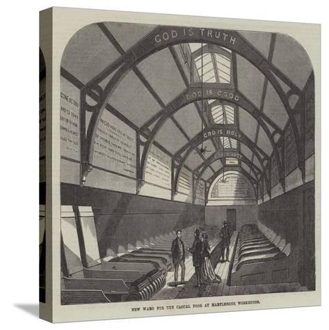 New Ward for the Casual Poor at Marylebone Workhouse-Frank Watkins-Stretched Canvas Print