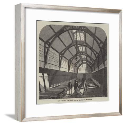 New Ward for the Casual Poor at Marylebone Workhouse-Frank Watkins-Framed Art Print
