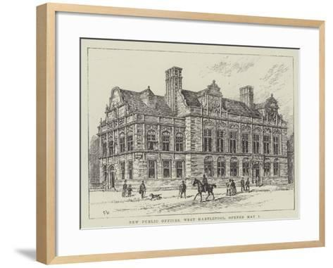 New Public Offices, West Hartlepool, Opened 1 May-Frank Watkins-Framed Art Print