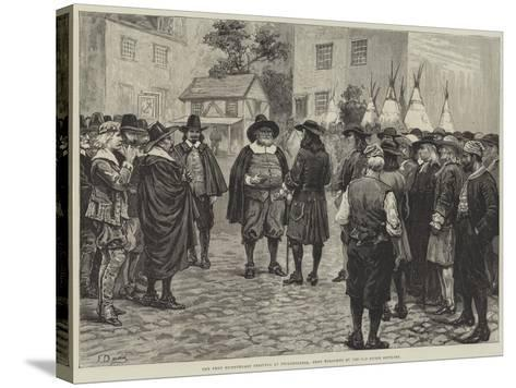 The Penn Bicentenary Festival at Philadelphia, Penn Welcomed by the Old Dutch Settlers-Frank Dadd-Stretched Canvas Print
