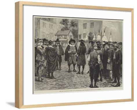 The Penn Bicentenary Festival at Philadelphia, Penn Welcomed by the Old Dutch Settlers-Frank Dadd-Framed Art Print