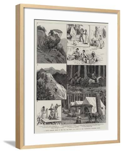A Lady's Camping Tour in the Far, Far West, Ii, a Visit to the Washington Mountain Mines-Frank Dadd-Framed Art Print