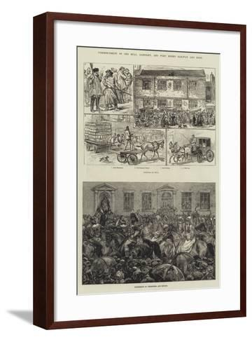 Commencement of the Hull, Barnsley, and West Riding Railway and Dock-Frank Dadd-Framed Art Print