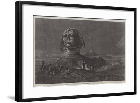 The Sphinx at Midnight, in the Exhibition of the Royal Academy-Frank Dillon-Framed Art Print