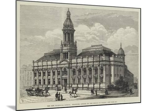 The New Technical School, Bradford, Opened by the Prince of Wales-Frank Watkins-Mounted Giclee Print