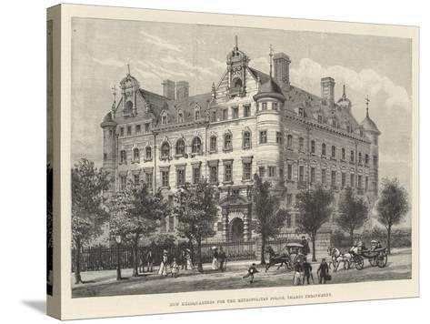 New Headquarters for the Metropolitan Police, Thames Embankment-Frank Watkins-Stretched Canvas Print