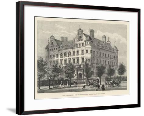 New Headquarters for the Metropolitan Police, Thames Embankment-Frank Watkins-Framed Art Print