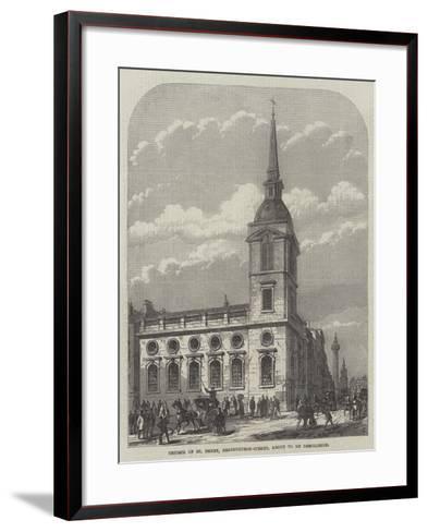 Church of St Benet, Gracechurch-Street, About to Be Demolished-Frank Watkins-Framed Art Print