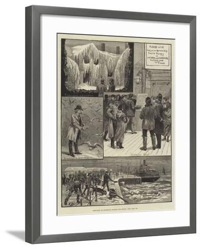 Sketches at Liverpool During the Frost-Frank Dadd-Framed Art Print