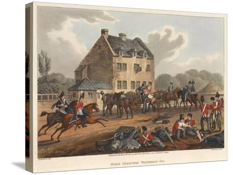 Head Quarters Waterloo 1815, Engraved by M. Dubourg, 1819 (Coloured Aquatint)-Franz Joseph Manskirch-Stretched Canvas Print