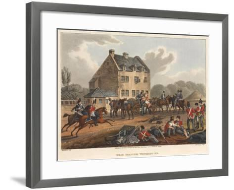 Head Quarters Waterloo 1815, Engraved by M. Dubourg, 1819 (Coloured Aquatint)-Franz Joseph Manskirch-Framed Art Print
