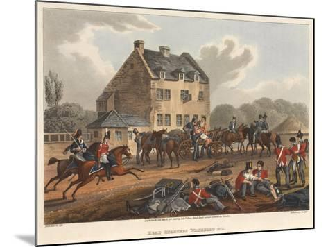 Head Quarters Waterloo 1815, Engraved by M. Dubourg, 1819 (Coloured Aquatint)-Franz Joseph Manskirch-Mounted Giclee Print