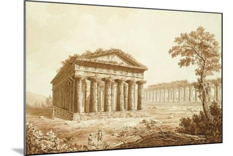 The Temple of Neptune and the Basilica at Paestum-Franz Kaisermaan-Mounted Giclee Print