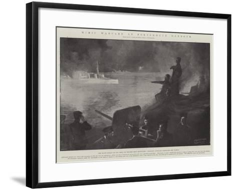 Mimic Warfare at Portsmouth Harbour-Fred T. Jane-Framed Art Print