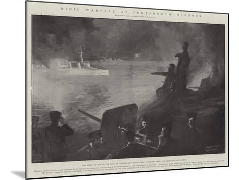 Mimic Warfare at Portsmouth Harbour-Fred T. Jane-Mounted Giclee Print