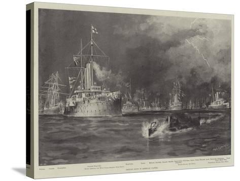 British Ships in American Waters-Fred T. Jane-Stretched Canvas Print