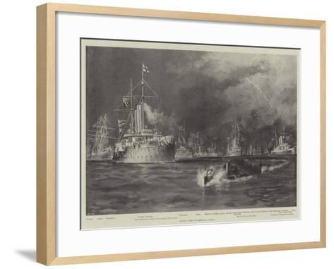British Ships in American Waters-Fred T. Jane-Framed Art Print
