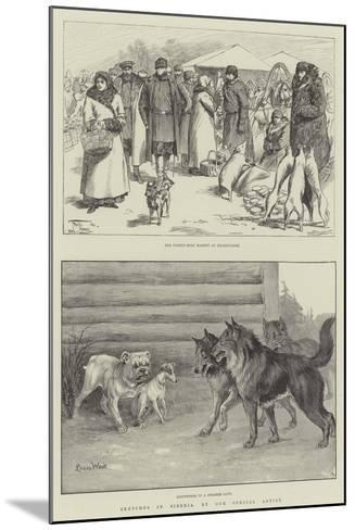 Sketches in Siberia-Frederick Pegram-Mounted Giclee Print