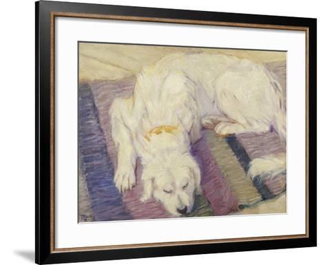 Sleeping Dog, 1909-Franz Marc-Framed Art Print