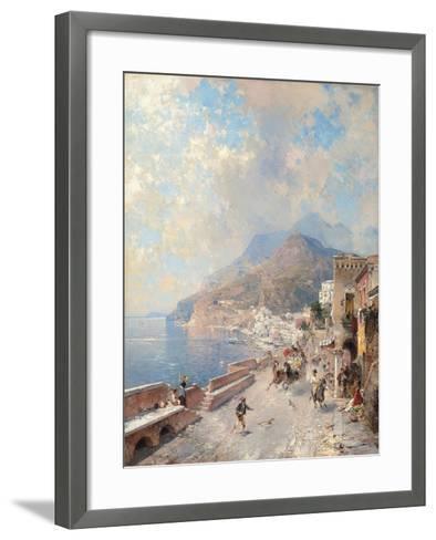 Gulf of Salerno, Amalfi-Franz Richard Unterberger-Framed Art Print