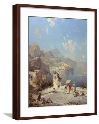 Overlooking Amalfi-Franz Richard Unterberger-Framed Art Print