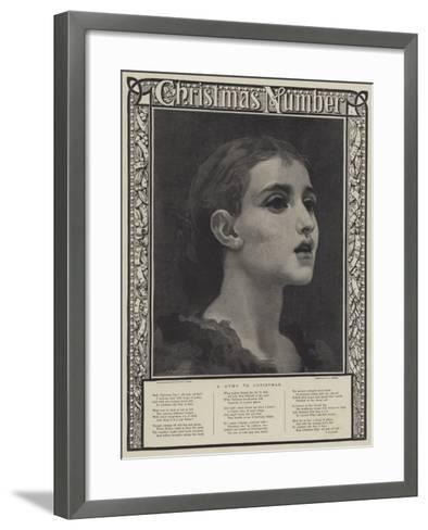 A Hymn to Christmas-Frederic Leighton-Framed Art Print