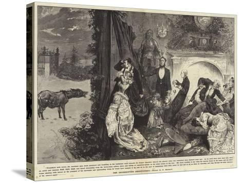 The Interrupted Ghost Story-Frederick Barnard-Stretched Canvas Print
