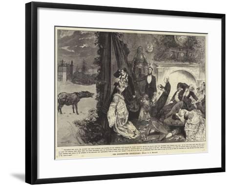 The Interrupted Ghost Story-Frederick Barnard-Framed Art Print