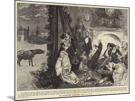 The Interrupted Ghost Story-Frederick Barnard-Mounted Giclee Print