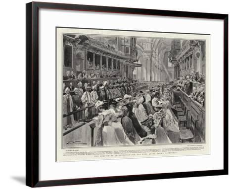The Service of Intercession for the King at St Paul's Cathedral-Frederic De Haenen-Framed Art Print