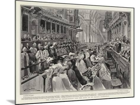 The Service of Intercession for the King at St Paul's Cathedral-Frederic De Haenen-Mounted Giclee Print