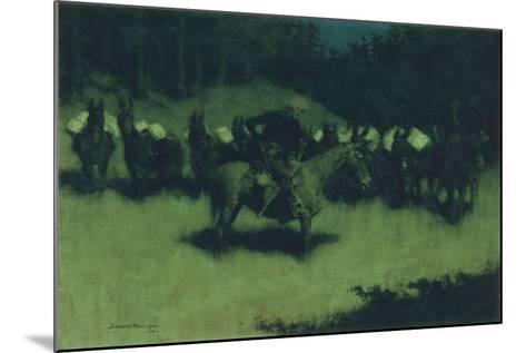Scare in a Pack Train, 1908-Frederic Remington-Mounted Giclee Print