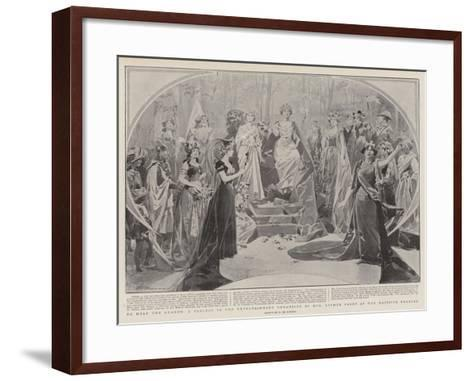 To Help the Guards-Frederic De Haenen-Framed Art Print