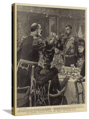 The Farewell Luncheon on Board the Ophir the Parting Pledge-Frederic De Haenen-Stretched Canvas Print