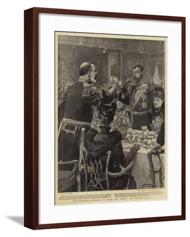 The Farewell Luncheon on Board the Ophir the Parting Pledge-Frederic De Haenen-Framed Art Print