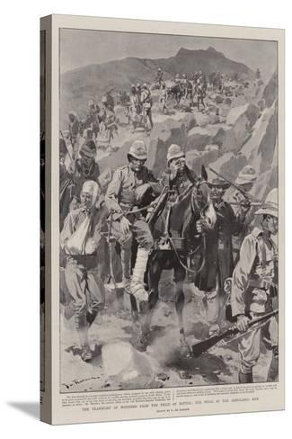 The Transport of Wounded from the Field of Battle, the Work of the Ambulance Men-Frederic De Haenen-Stretched Canvas Print
