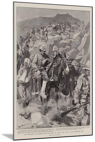 The Transport of Wounded from the Field of Battle, the Work of the Ambulance Men-Frederic De Haenen-Mounted Giclee Print