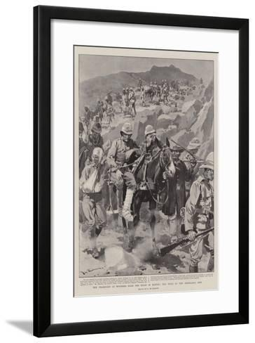 The Transport of Wounded from the Field of Battle, the Work of the Ambulance Men-Frederic De Haenen-Framed Art Print