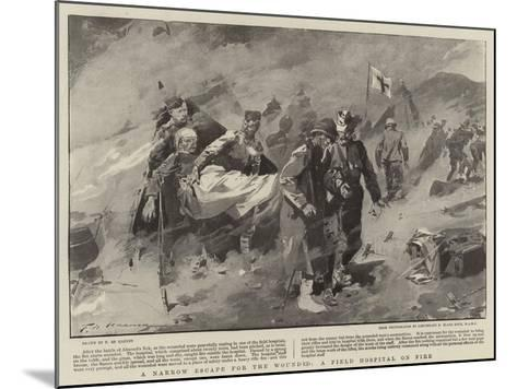 A Narrow Escape for the Wounded, a Field Hospital on Fire-Frederic De Haenen-Mounted Giclee Print