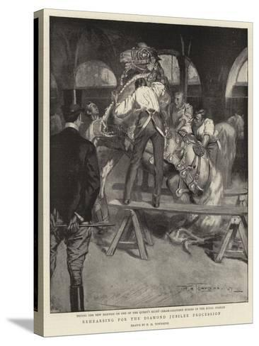 Rehearsing for the Diamond Jubilee Procession-Frederick Henry Townsend-Stretched Canvas Print